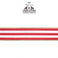 DOG LEAD - CLASSIC DECKCHAIR STRIPE RED